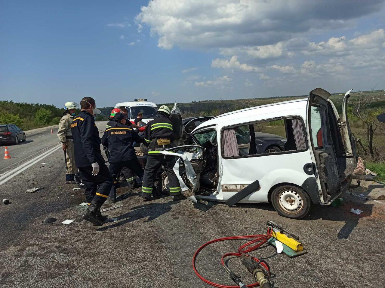 Страшная авария под Запорожьем / фото: ГСЧС