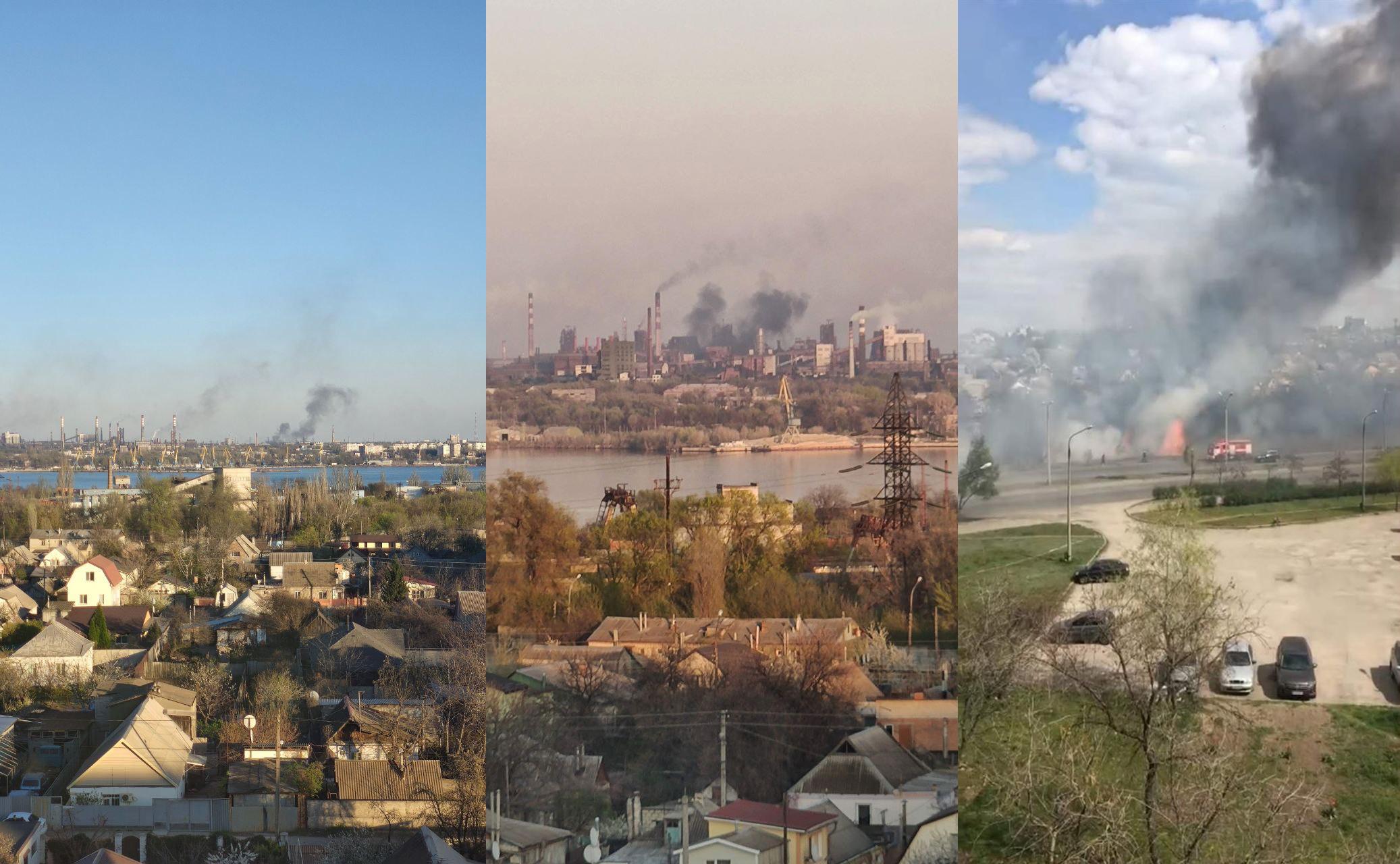 Три дня подряд в Запорожье были крупные пожары, которые видно было даже с других концов города / фото: Vgorode и Алина Деревянко
