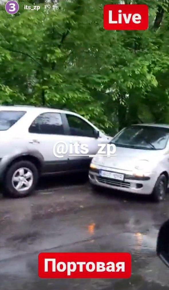 Авария на Портовой / фото: @its_zp