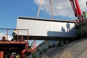 Принялись к монтажу: как проходит строительство запорожских мостов фото 1